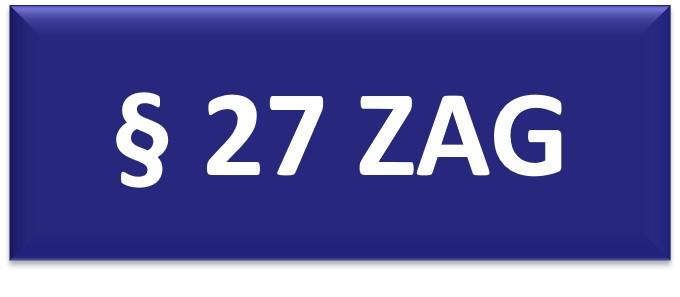 § 27 ZAG
